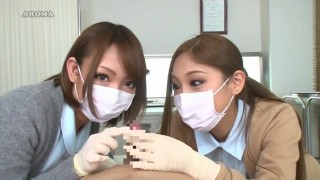 中文字幕  Jav :2 Japanese Nurses in Latex Gloves Teasing Patient