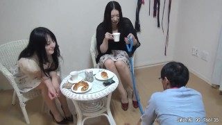 中文字幕  Jav :Japanese Femdom mean Double Mistress Piss Feeding and Trample Slave Petplay